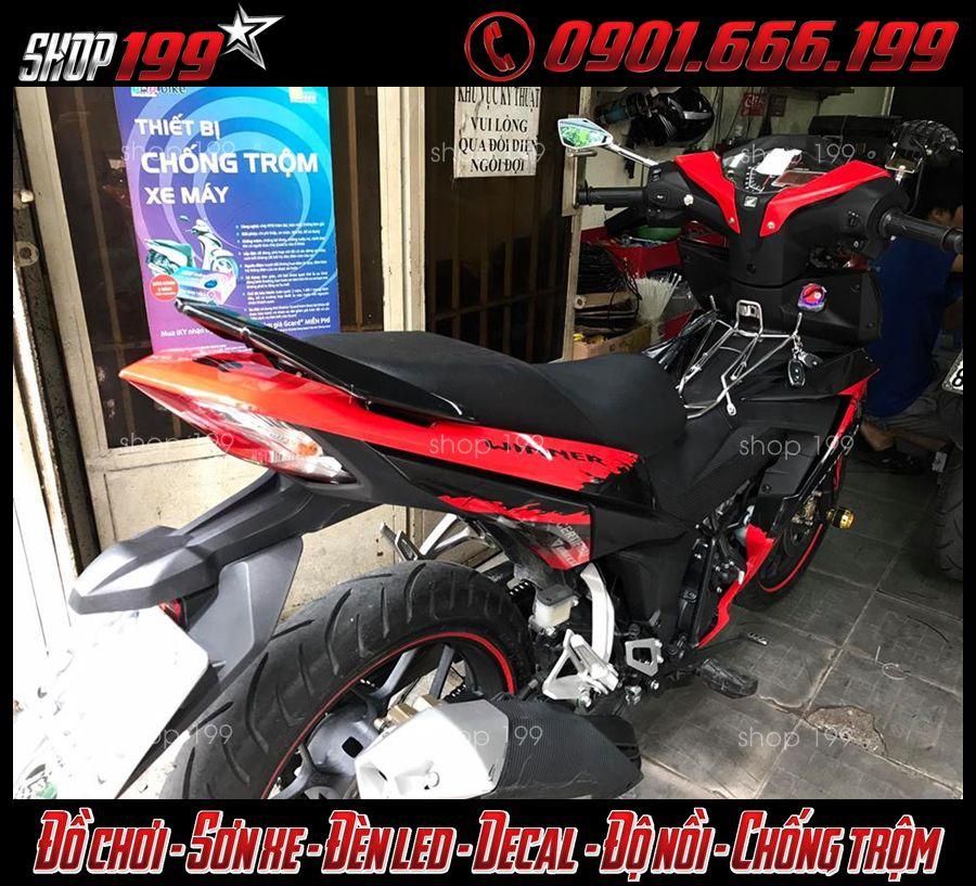 Hình ảnh: Xe Winner đỏ đen độ smartkey chống trộm tại Q5 TpHCM