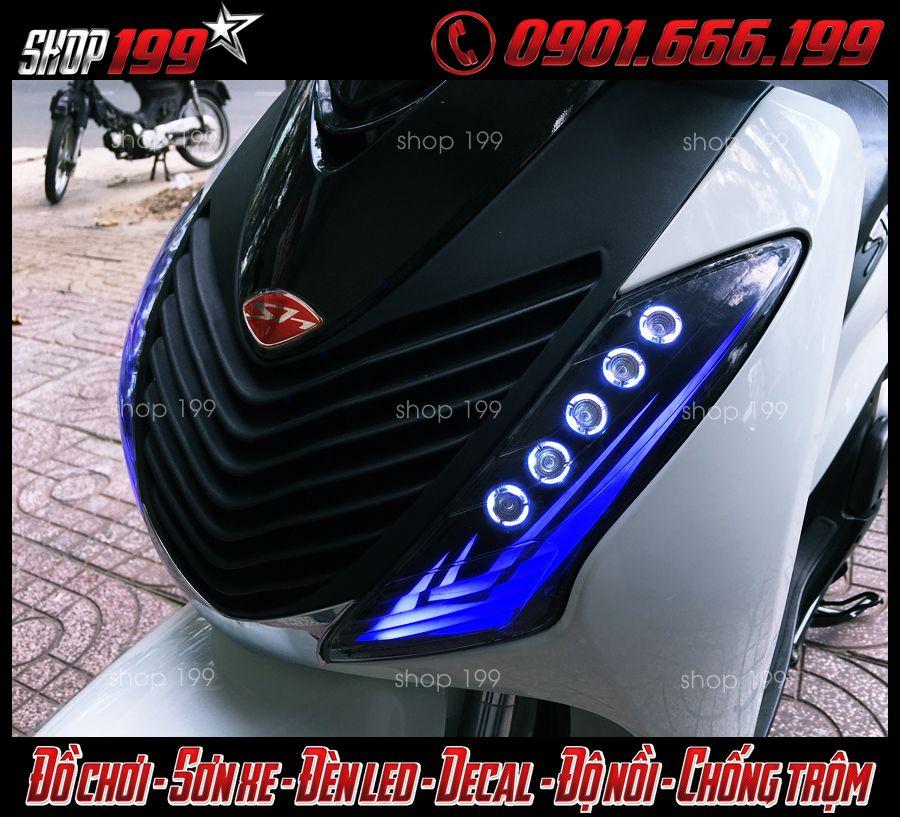Hình ảnh: Đèn Led xi nhan Audi và đèn O'Block độ đẹp cho xe Sh Việt, SH Ý 150i 125i 300i 2012 2013 2014 2015 2016 tại Q5 HCM