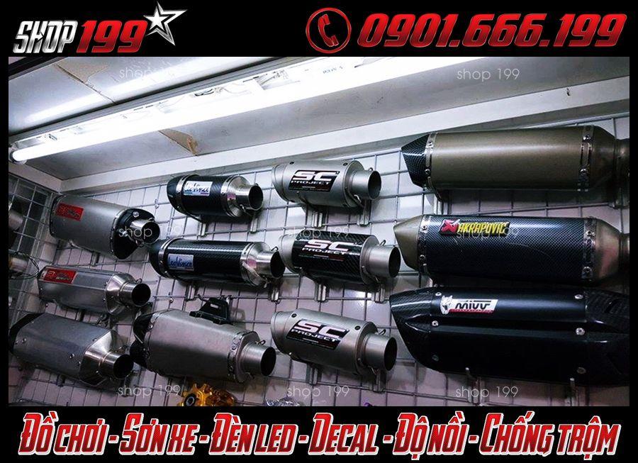 Hình ảnh: Những mẫu pô độ xe máy đẹp và ngầu tại shop 199 Q5 HCM